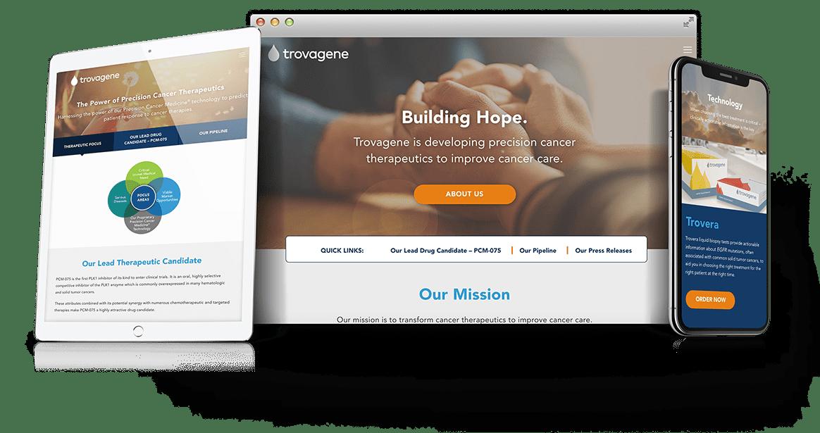 Trovagene Web Design Case Study